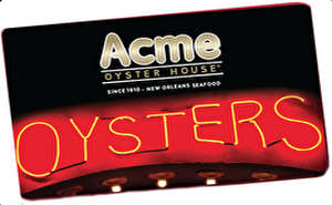 Acme Oyster House Gift Card