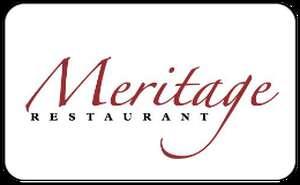 Meritage Restaurant Gift Card